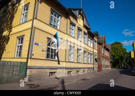 Niine street Kalamaja district Tallinn Estonia Europe - Stock Photo