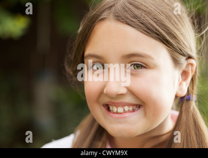 A care free young girl. - Stock Photo