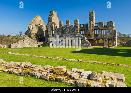 The Premonstratensian abbey of St. John the Baptist at Egglestone near Barnard Castle, Teesdale, County Durham, - Stock Photo