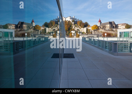View from the roof terrace of the Unipark Nonntal, Salzburg, Austria - Stock Photo