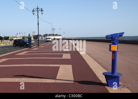 Clarence Esplanade at Southsea seafront Portsmouth Hampshire - Stock Photo