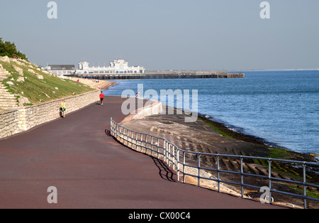 View of South Parade Pier at the seafront Southsea Portsmouth Hampshire - Stock Photo