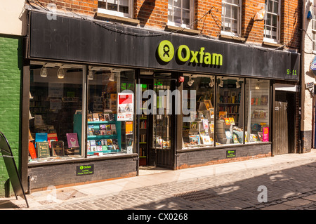 The Oxfam charity shop store in Norwich , Norfolk , England , Britain , Uk - Stock Photo