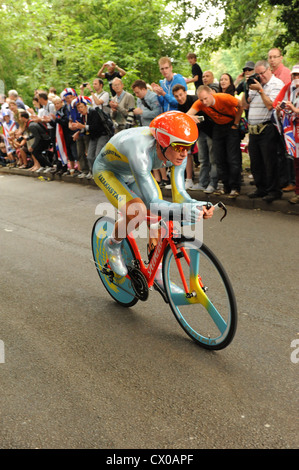 Men's cycling individual time trials at the London 2012 Olympics - Stock Photo