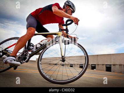 Cyclist Riding Bike - Stock Photo