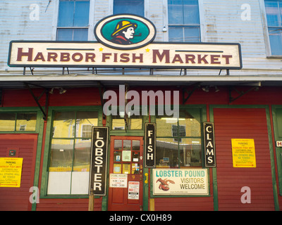 signs in retail seafood store stock photo royalty free