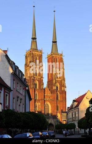 breslau, church, dolnoslaskie, europe, ostrow, tumski, poland, silesia, wroclaw, - Stock Photo