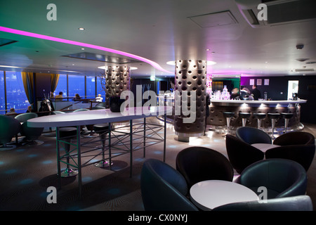 Sky bar Radisson BLU hotel Vilnius Lithuania - Stock Photo