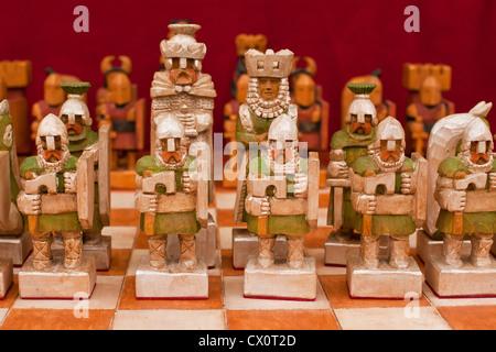 Handmade wooden figurine, Cracow, Poland, Europe - Stock Photo