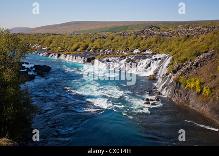 Waterfall in the southern Iceland, Europe - Stock Photo
