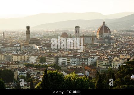 Cityscape from San Miniato al Monte, Florence, Italy - Stock Photo