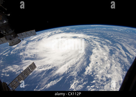 Tropical storm hurricane Katia viewed from space - Stock Photo