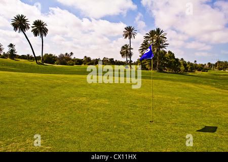 Golf course, Djerba, Tunisia - Stock Photo