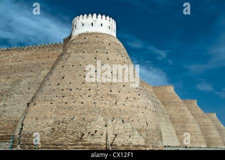 Walls of the Ark Fortress in Bukhara, Uzbekistan - Stock Photo