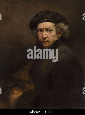 Rembrandt van Rijn (Dutch, 1606 - 1669 ), Self-Portrait, 1659, oil on canvas - Stock Photo