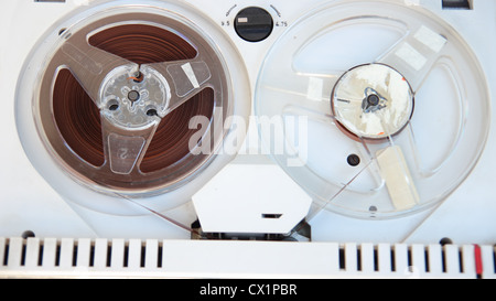 Old tape reel from the sixties - Stock Photo