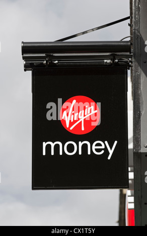 Virgin Money sign on a branch which was previously Northern Rock - Stock Photo