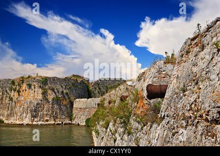 The castle of Agia Mavra, Lefkada (or 'Lefkas') island, Ionian Sea, Eptanisa ('Seven islands'), Greece - Stock Photo