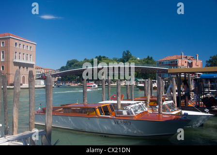 Ponte della Constituzione Santiago Calatrava's fourth bridge over the Grand Canal Cannaregio Venice Veneto Italy - Stock Photo