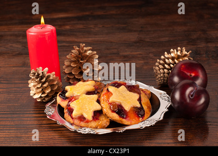 Traditional Christmas cookies with a fruity taste - Stock Photo
