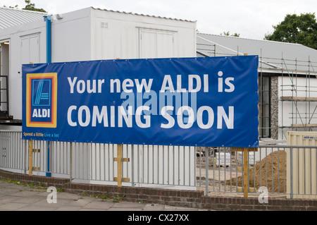 Aldi New Store Opening Soon - Stock Photo
