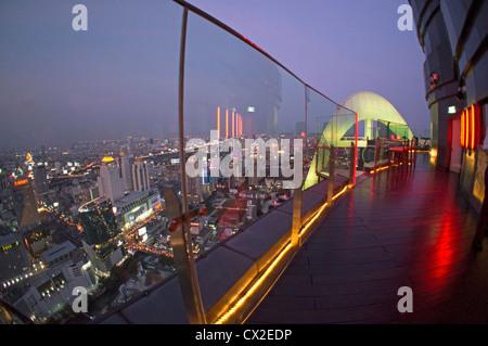 Red Sky Rooftop Bar at Centara Grand Bangkok , Thailand - Stock Photo
