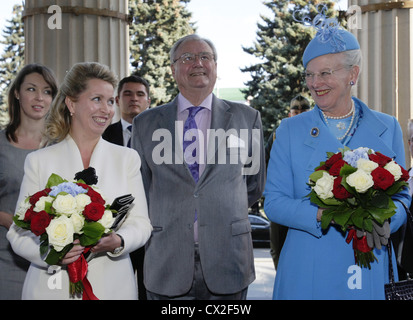ITAR-TASS: MOSCOW, RUSSIA. SEPTEMBER 6, 2011. Russia's First Lady Svetlana Medvedev, Prince Consort of Denmark, - Stock Photo
