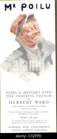 Bookmark advertising Mr Poilu by Herbert Ward - Stock Photo