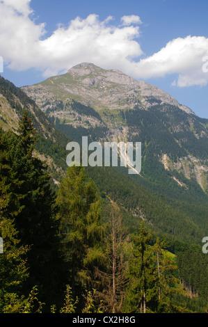 Austria, Tyrol, Zillertal Inn river valley - Stock Photo