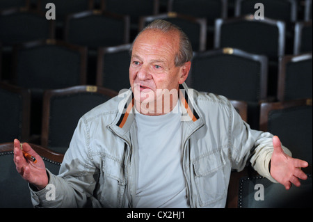 ITAR-TASS: MOSCOW, RUSSIA. SEPTEMBER 19, 2011. Director Adolf Shapiro at the dress rehearsal of his production of - Stock Photo