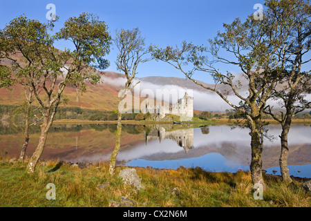 Ruins of Kilchurn Castle on Loch Awe, Argyll & Bute, Scotland. Autumn (October) 2010. - Stock Photo