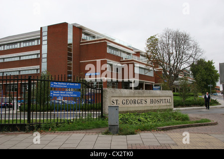 Exterior view of St Georges Hospital Tooting London UK - Stock Photo