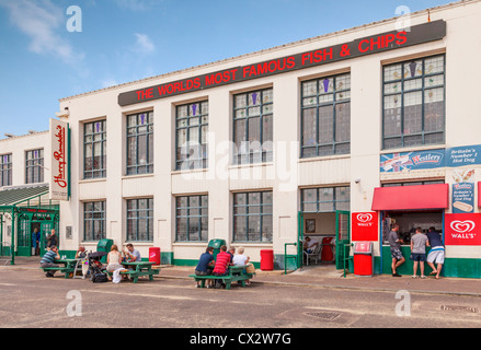 Harry Ramsden's fish and chip shop Bournemouth, England. - Stock Photo