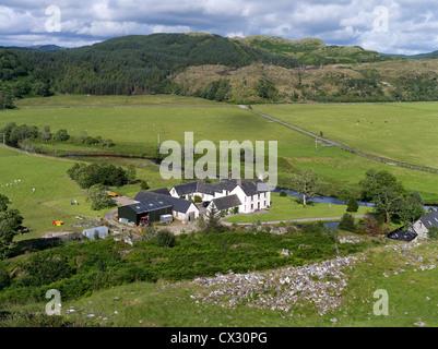 dh Kilmartin Glen Dunadd valley DUNADD ARGYLL Country farmstead argyllshire farm house Scotland farmland rural farmhouse uk