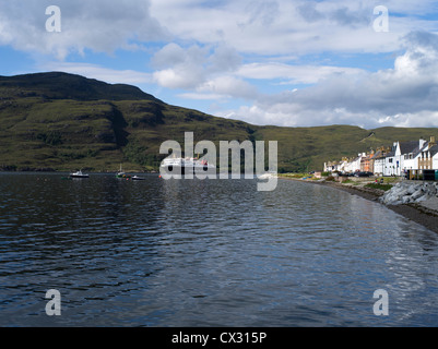dh Loch Broom scotland ULLAPOOL ROSS CROMARTY Calmac Outer Herbrides island ferry seafront Ullapool houses highlands sailing boat