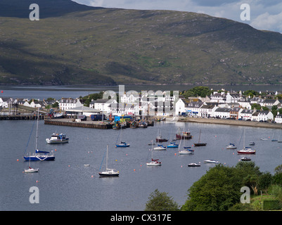 dh Loch Broom bay ULLAPOOL ROSS CROMARTY Scottish harbour town Yachts in bay highlands scotland harbours yacht