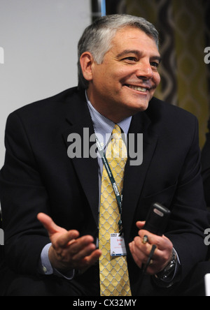 ITAR-TASS: KALUGA, RUSSIA. DECEMBER, 2011. James Bovenzi, Managing Director of GM Russia and CIS, at the international - Stock Photo