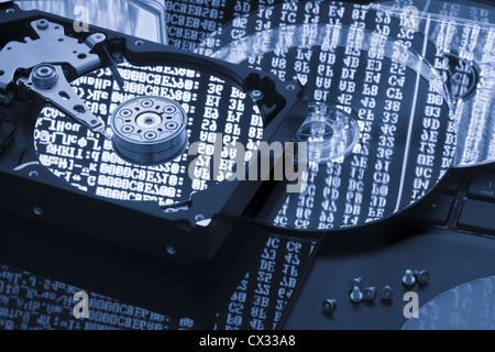 Hard disk data storage, backup, restore concept - Stock Photo
