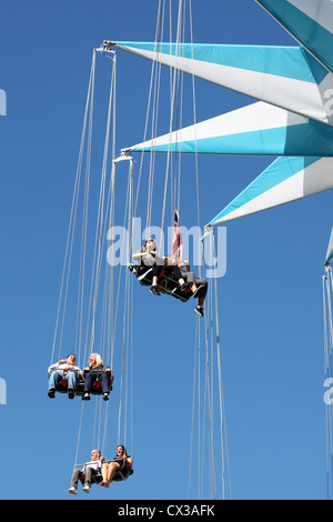 The Starflyer chair ride part of the Priceless London Wonderground at Southbank Centre, Jubilee Gardens, London, - Stock Photo