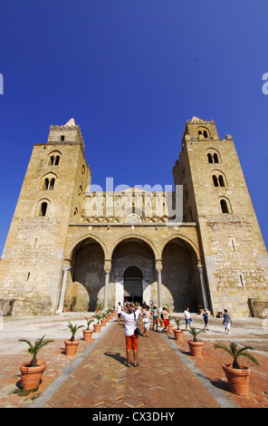 Cathedral, Cefalu, Sicily, Italy - Stock Photo