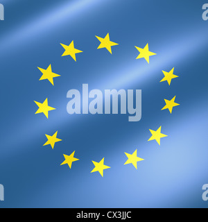 Fahne der Europäischen Union - flag of the european union - Stock Photo