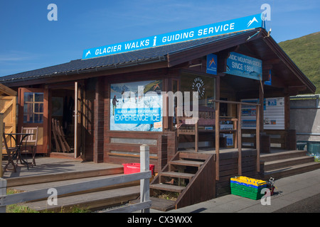 Vatnajökull Glacier walk Booking Office at Skaftafell, Southern Iceland - Stock Photo