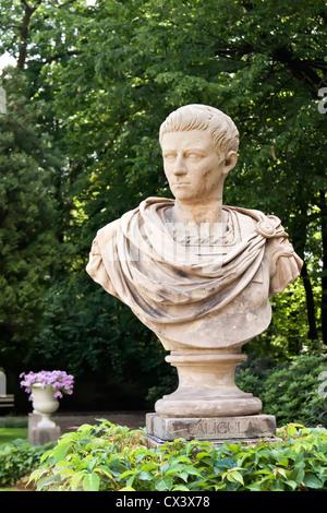 Antique Emperor - Caligula. Marble sculpture. - Stock Photo