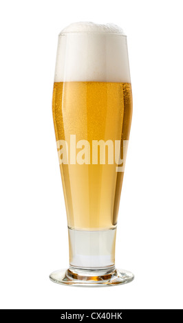 Classic Pilsner (Beer) isolated on white. - Stock Photo