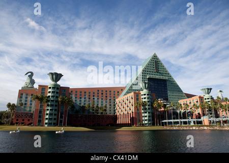 Swan and Dolphin Hotel Disneyland - Stock Photo