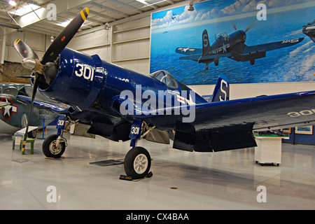 Corsair Palm Springs Air Museum - Stock Photo