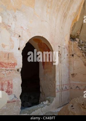 Udabno cave monastery part of Davit Gareja - Stock Photo