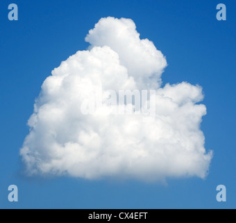 Background of a blue sky and a single cloud - Stock Photo