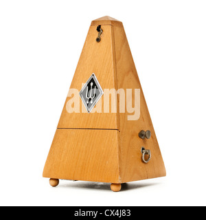 Vintage mechanical wooden pyramid metronome by Wittner of Germany - Stock Photo