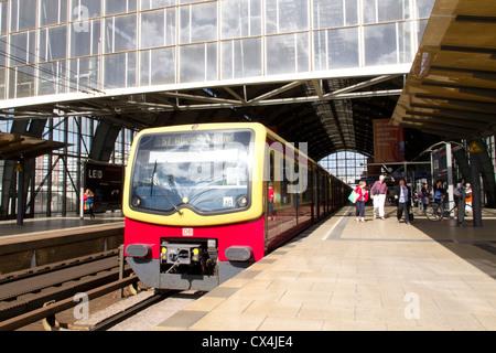 Alexanderplatz train station  and s bahn -  Berlin - Stock Photo